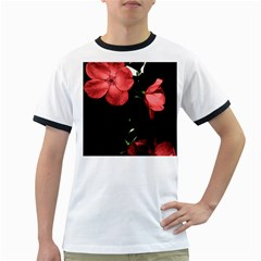 Mauve Roses 4 Ringer T Shirts by timelessartoncanvas