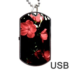 Mauve Roses 4 Dog Tag Usb Flash (one Side) by timelessartoncanvas