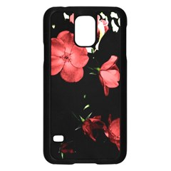 Mauve Roses 4 Samsung Galaxy S5 Case (black) by timelessartoncanvas