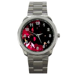 Pink Roses Sport Metal Watch by timelessartoncanvas