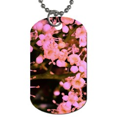 Little Mauve Flowers Dog Tag (two Sides) by timelessartoncanvas