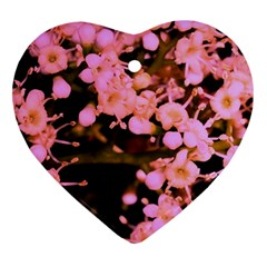 Little Mauve Flowers Heart Ornament (2 Sides) by timelessartoncanvas