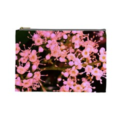 Little Mauve Flowers Cosmetic Bag (large)