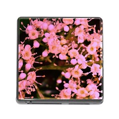 Little Mauve Flowers Memory Card Reader (square) by timelessartoncanvas
