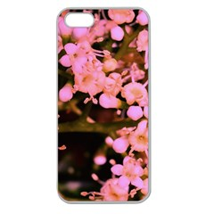 Little Mauve Flowers Apple Seamless Iphone 5 Case (clear) by timelessartoncanvas