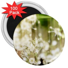 Little White Flowers 3  Magnets (100 Pack) by timelessartoncanvas