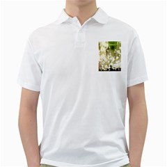 Little White Flowers Golf Shirts by timelessartoncanvas