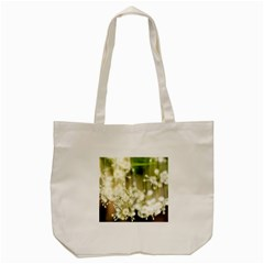 Little White Flowers Tote Bag (cream) by timelessartoncanvas