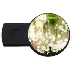 Little White Flowers Usb Flash Drive Round (4 Gb)  by timelessartoncanvas