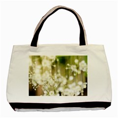 Little White Flowers Basic Tote Bag (two Sides) by timelessartoncanvas