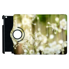 Little White Flowers Apple Ipad 2 Flip 360 Case by timelessartoncanvas