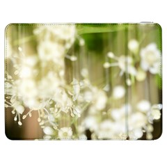 Little White Flowers Samsung Galaxy Tab 7  P1000 Flip Case by timelessartoncanvas