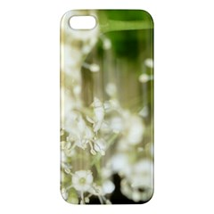 Little White Flowers Iphone 5s/ Se Premium Hardshell Case by timelessartoncanvas