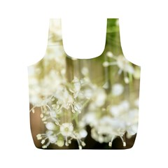 Little White Flowers Full Print Recycle Bags (m)  by timelessartoncanvas