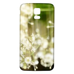 Little White Flowers Samsung Galaxy S5 Back Case (white) by timelessartoncanvas