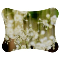 Little White Flowers Jigsaw Puzzle Photo Stand (bow) by timelessartoncanvas
