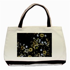 Little White Flowers 2 Basic Tote Bag (two Sides) by timelessartoncanvas
