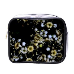 Little White Flowers 2 Mini Toiletries Bags by timelessartoncanvas