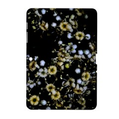 Little White Flowers 2 Samsung Galaxy Tab 2 (10 1 ) P5100 Hardshell Case  by timelessartoncanvas