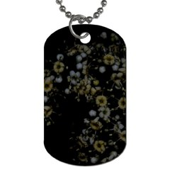 Little White Flowers 3 Dog Tag (two Sides) by timelessartoncanvas