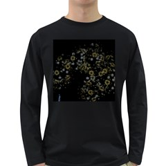 Little White Flowers 3 Long Sleeve Dark T-shirts by timelessartoncanvas