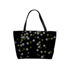 Little White And Green Dots Shoulder Handbags by timelessartoncanvas