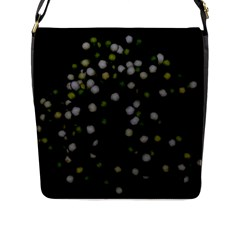 Little White And Green Dots Flap Messenger Bag (l)  by timelessartoncanvas