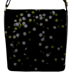 Little White And Green Dots Flap Messenger Bag (s) by timelessartoncanvas