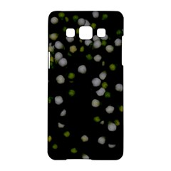 Little White And Green Dots Samsung Galaxy A5 Hardshell Case  by timelessartoncanvas