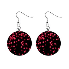 Little Pink Dots Mini Button Earrings by timelessartoncanvas