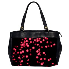 Little Pink Dots Office Handbags (2 Sides)  by timelessartoncanvas