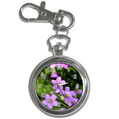 Little Purple Flowers Key Chain Watches by timelessartoncanvas