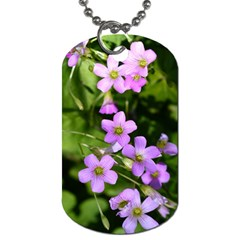 Little Purple Flowers Dog Tag (two Sides) by timelessartoncanvas