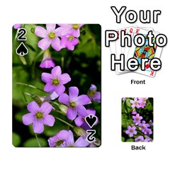 Little Purple Flowers Playing Cards 54 Designs  by timelessartoncanvas