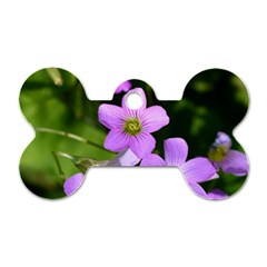 Little Purple Flowers Dog Tag Bone (two Sides) by timelessartoncanvas
