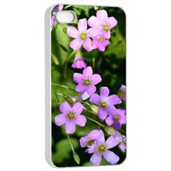 Little Purple Flowers Apple Iphone 4/4s Seamless Case (white) by timelessartoncanvas