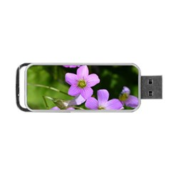Little Purple Flowers Portable Usb Flash (two Sides) by timelessartoncanvas