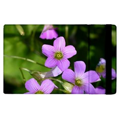 Little Purple Flowers Apple Ipad 3/4 Flip Case by timelessartoncanvas