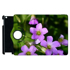 Little Purple Flowers Apple Ipad 3/4 Flip 360 Case by timelessartoncanvas