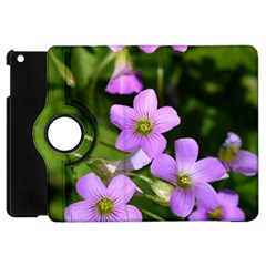 Little Purple Flowers Apple Ipad Mini Flip 360 Case by timelessartoncanvas