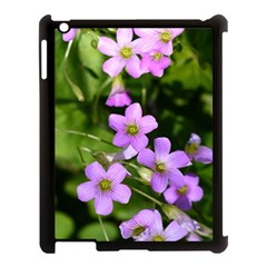 Little Purple Flowers Apple Ipad 3/4 Case (black) by timelessartoncanvas