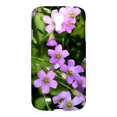 Little Purple Flowers Samsung Galaxy S4 I9500/i9505 Hardshell Case by timelessartoncanvas