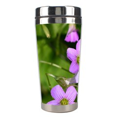 Little Purple Flowers Stainless Steel Travel Tumblers by timelessartoncanvas