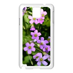 Little Purple Flowers Samsung Galaxy Note 3 N9005 Case (white) by timelessartoncanvas