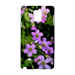 Little Purple Flowers Samsung Galaxy Note 4 Hardshell Case by timelessartoncanvas