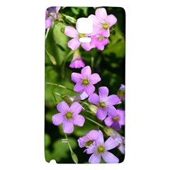 Little Purple Flowers Galaxy Note 4 Back Case by timelessartoncanvas