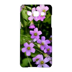 Little Purple Flowers Samsung Galaxy A5 Hardshell Case  by timelessartoncanvas