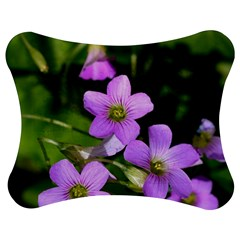Little Purple Flowers Jigsaw Puzzle Photo Stand (bow) by timelessartoncanvas