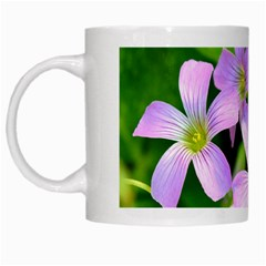 Little Purple Flowers 2 White Mugs by timelessartoncanvas