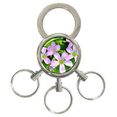 Little Purple Flowers 2 3 Ring Key Chains by timelessartoncanvas